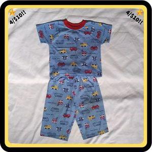 🌟4/$10🌟  Blue 2 Piece Pajama Set w/ Fire Trucks